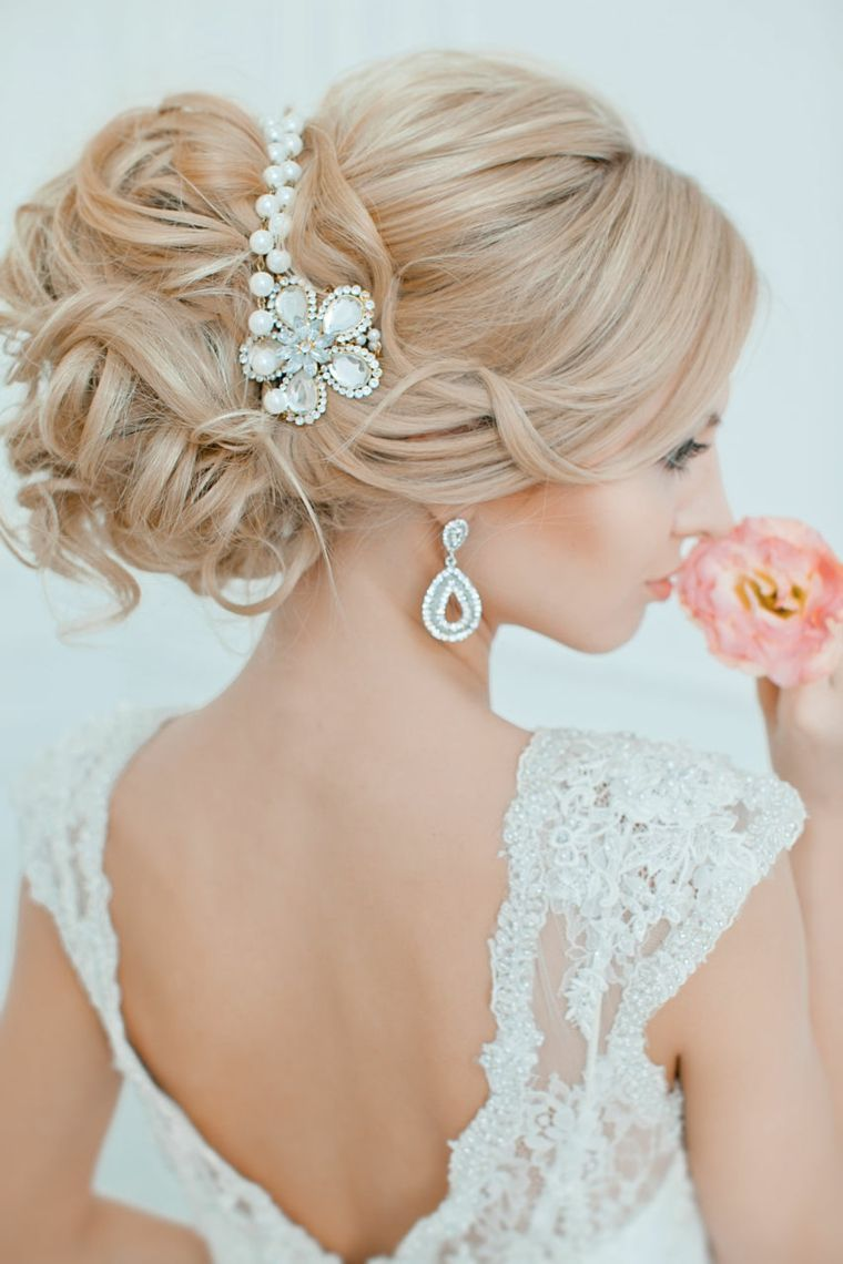 peinados boda mono joyas brillo ideas