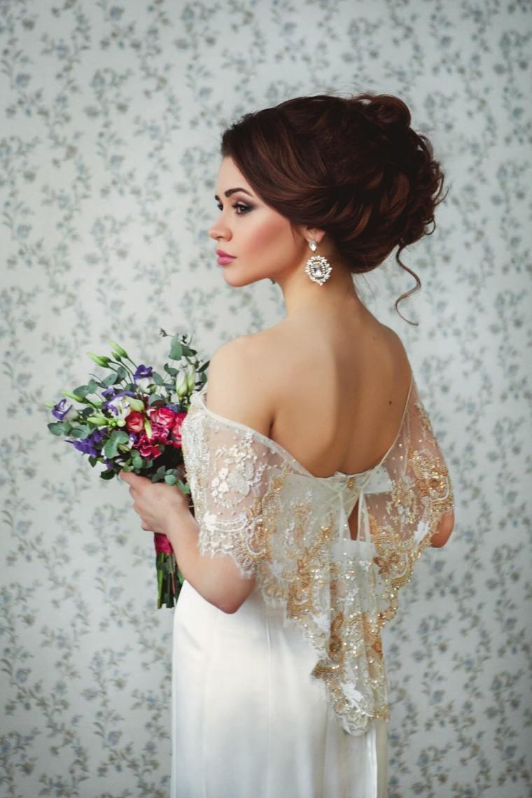 Peinados de novia pelo recogido