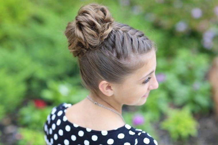 peinados con trenza chicas