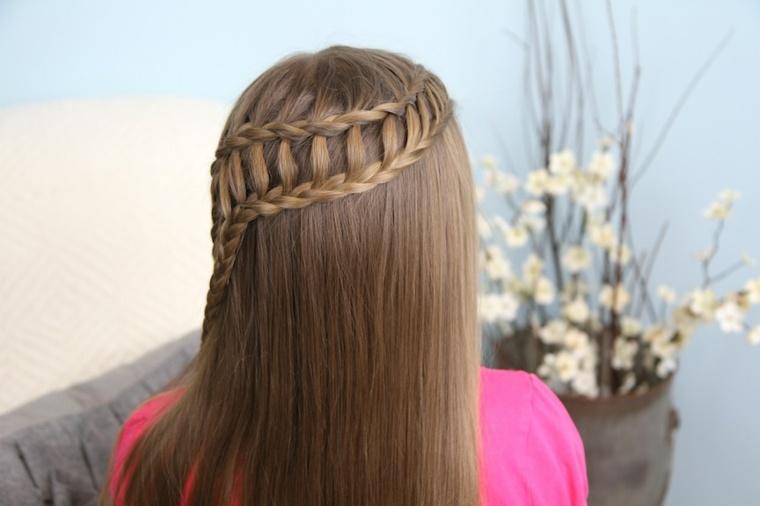 peinados con trenzas chica