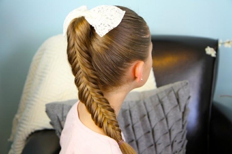 peinados con trenzas coleta