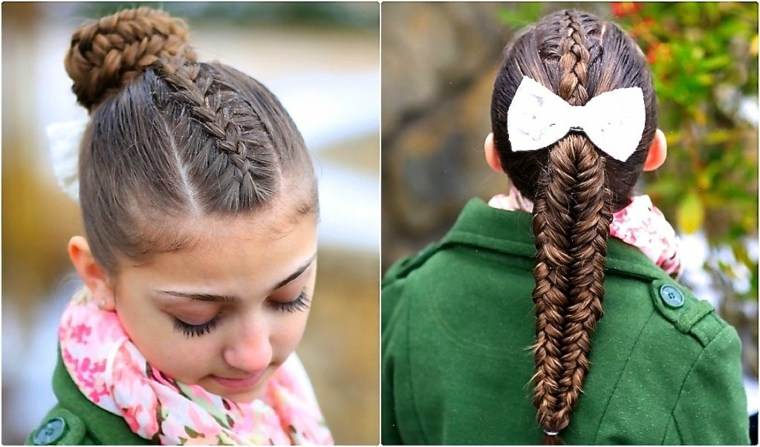 peinados con trenzas elegantes chicas