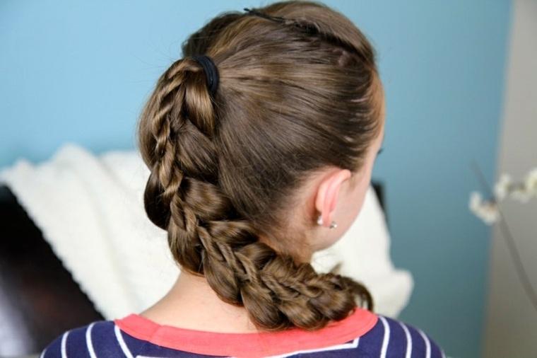 peinados con trenzas modernos chicas