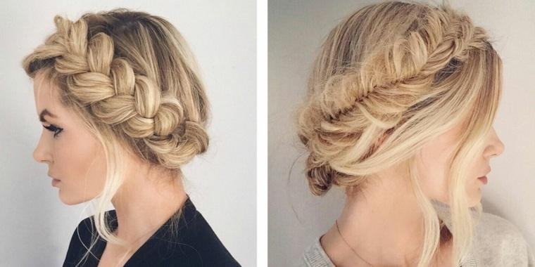 Peinados con trenzas muy modernos y originales - Como hacer peinado para boda ...