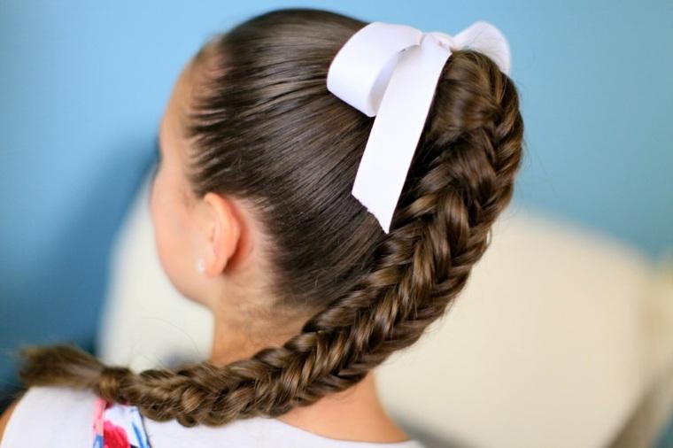 peinados con trenzas niña