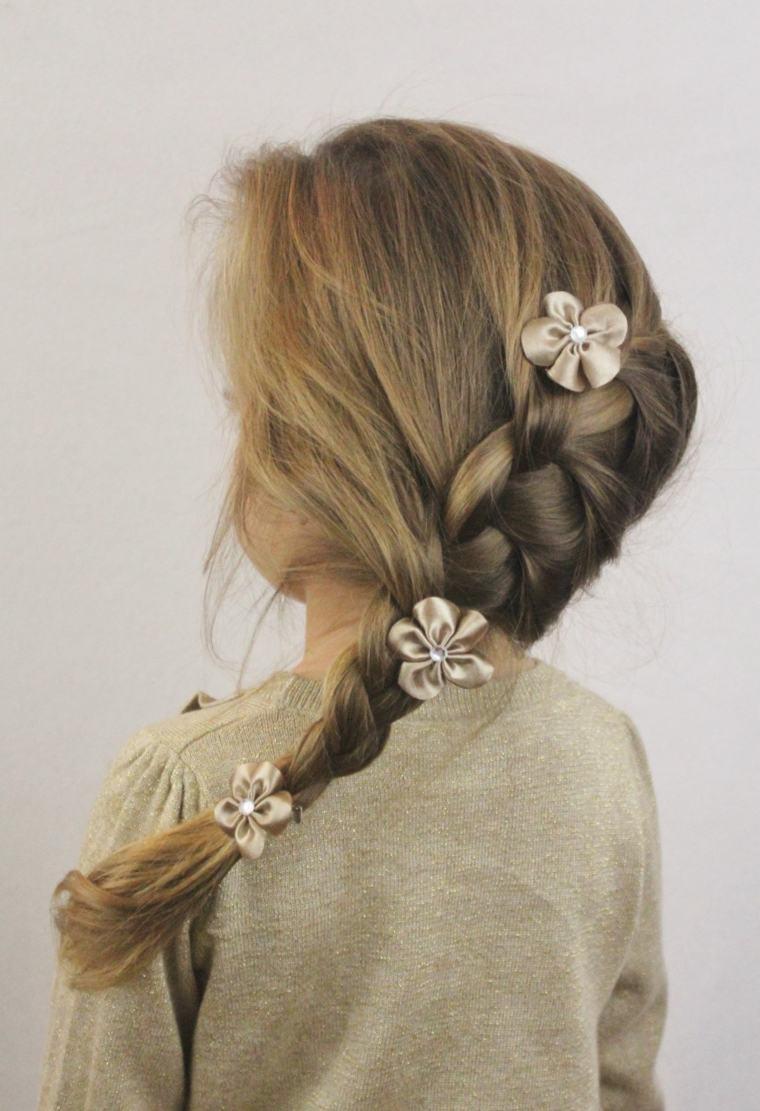 peinados con trenzas nias