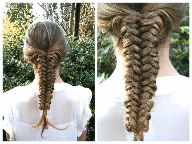 peinados con trenzas originales chicas