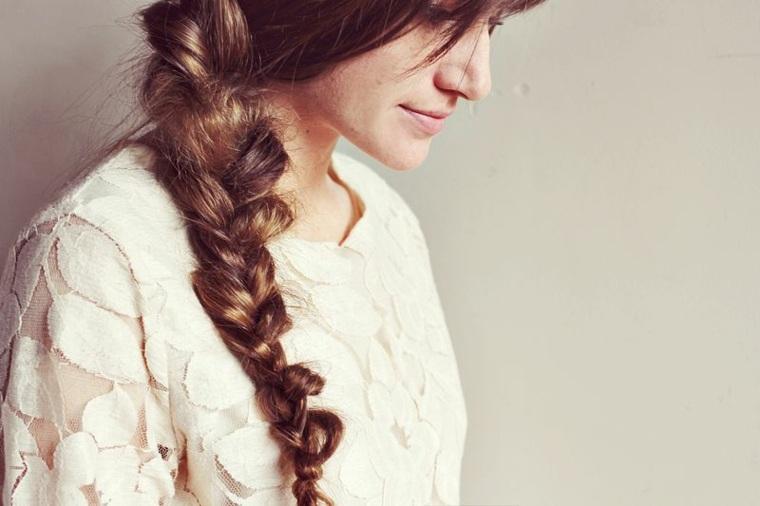peinados de trenzas pelo largo