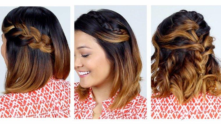 peinados fáciles con pelo corto mujeres