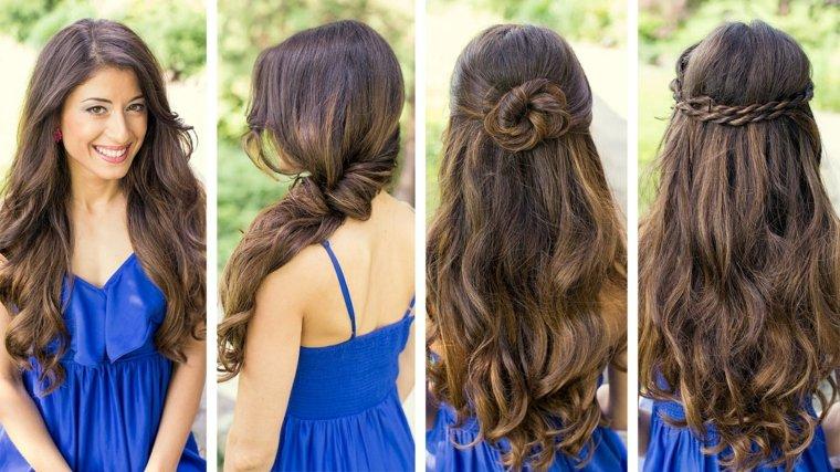 peinados para fiesta mujeres