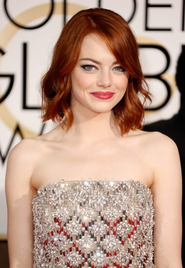 peinados pelo corto Emma Stone no demasiado corto color bello ideas