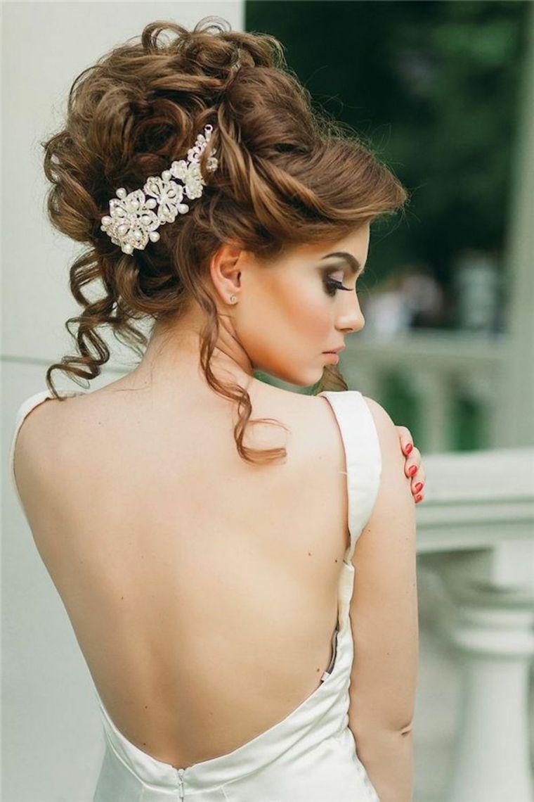 pelo rizos sueltos novia peinado boda ideas
