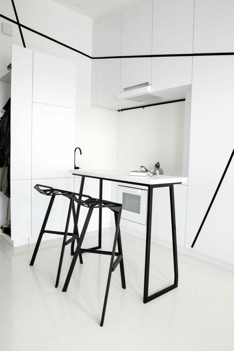 pequena minimalist blanca negra impresionante