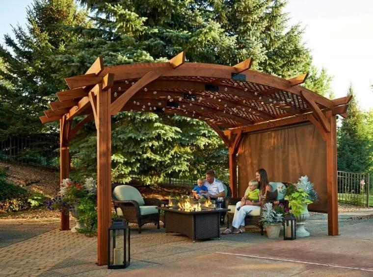 pérgolas de jardín madera decoración