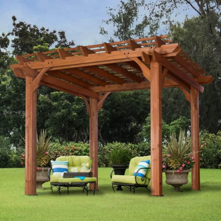 Carpas de madera para jardin top photos de pergolas for Carpas para jardin