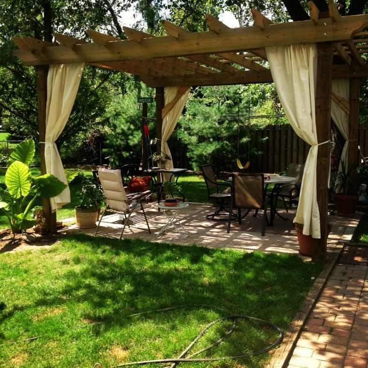 pérgolas de jardín decorar casas