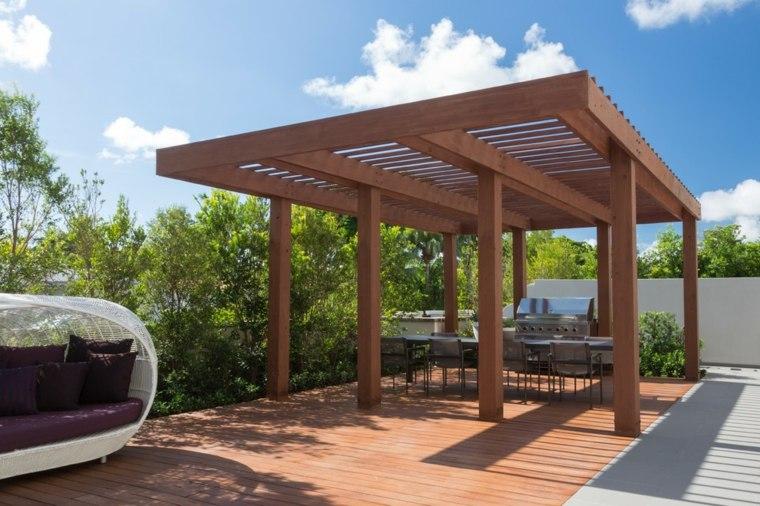 pérgolas de madera para jardín