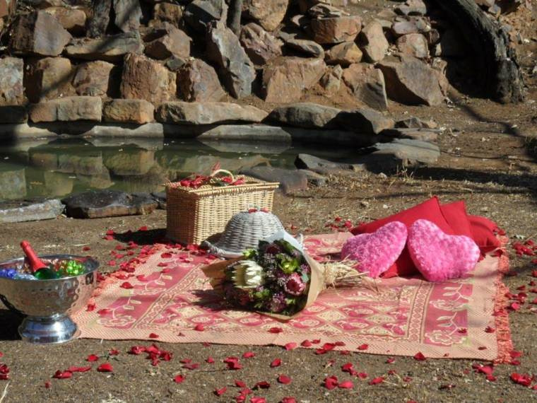 picnic romántico arena