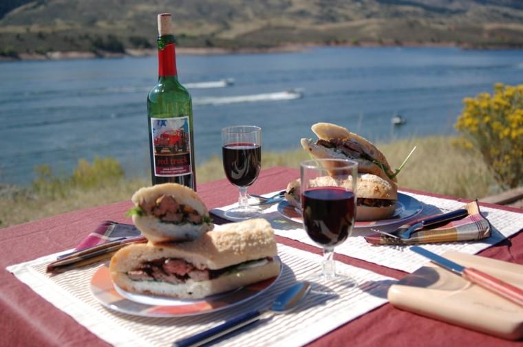 picnic romántico campo