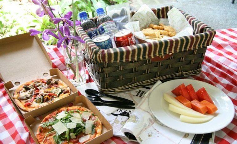 picnic romántico comidas