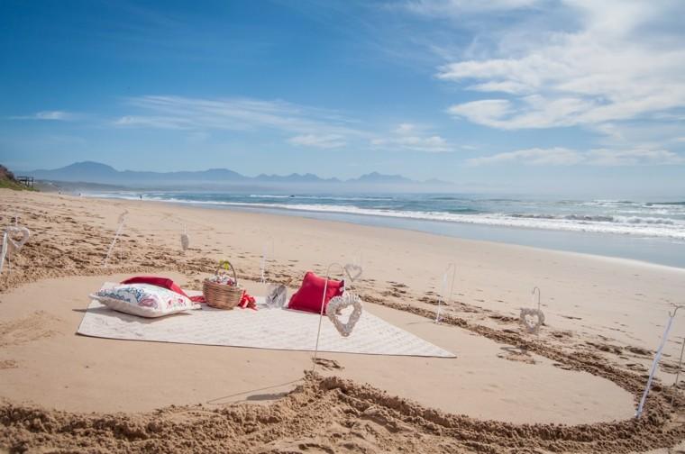 picnic romántico mar
