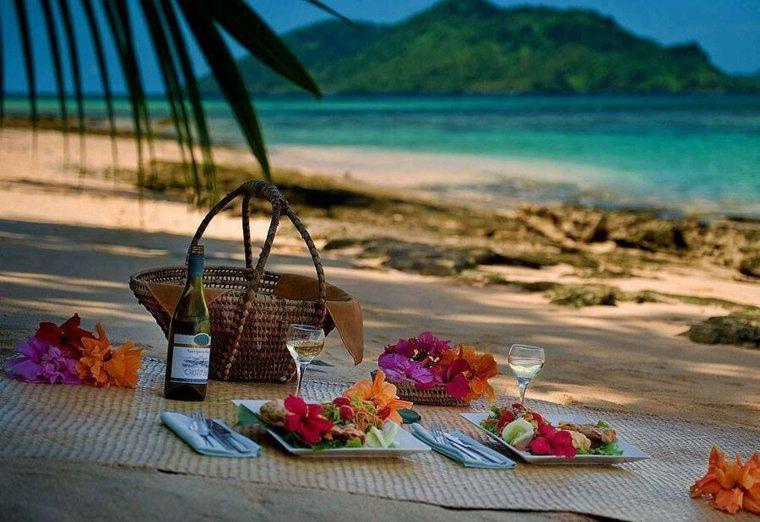 picnic romántico playa