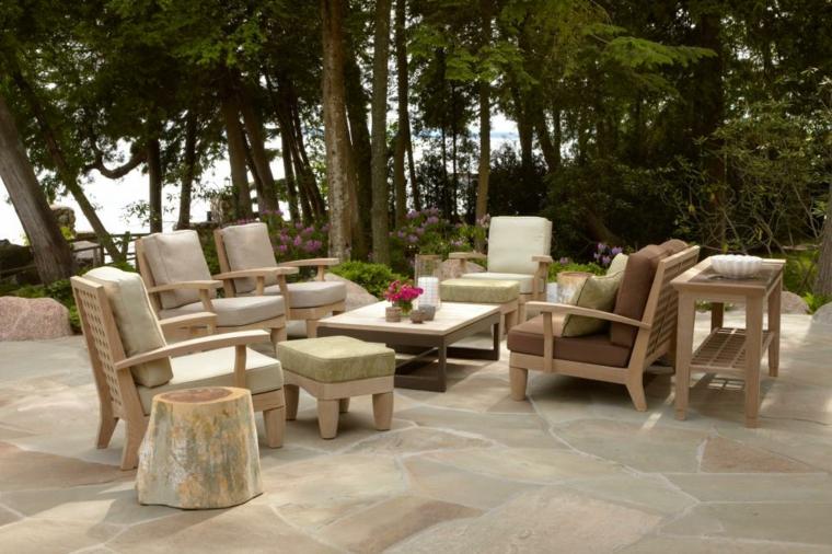 piedra suelos salones estilos maderas