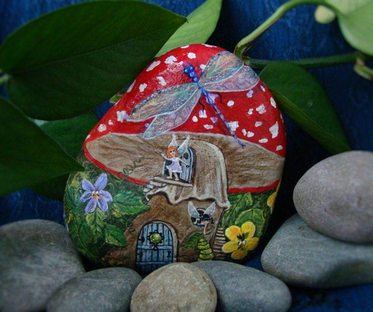 piedras pintadas decoración original