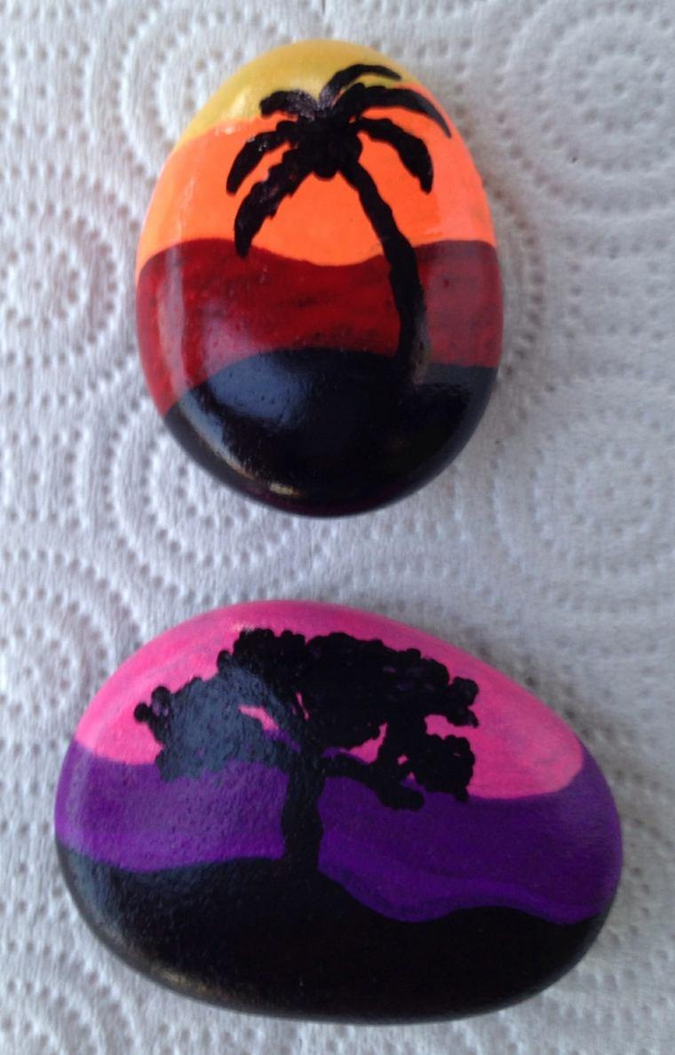 piedras pintadas decoraciones moderna casas