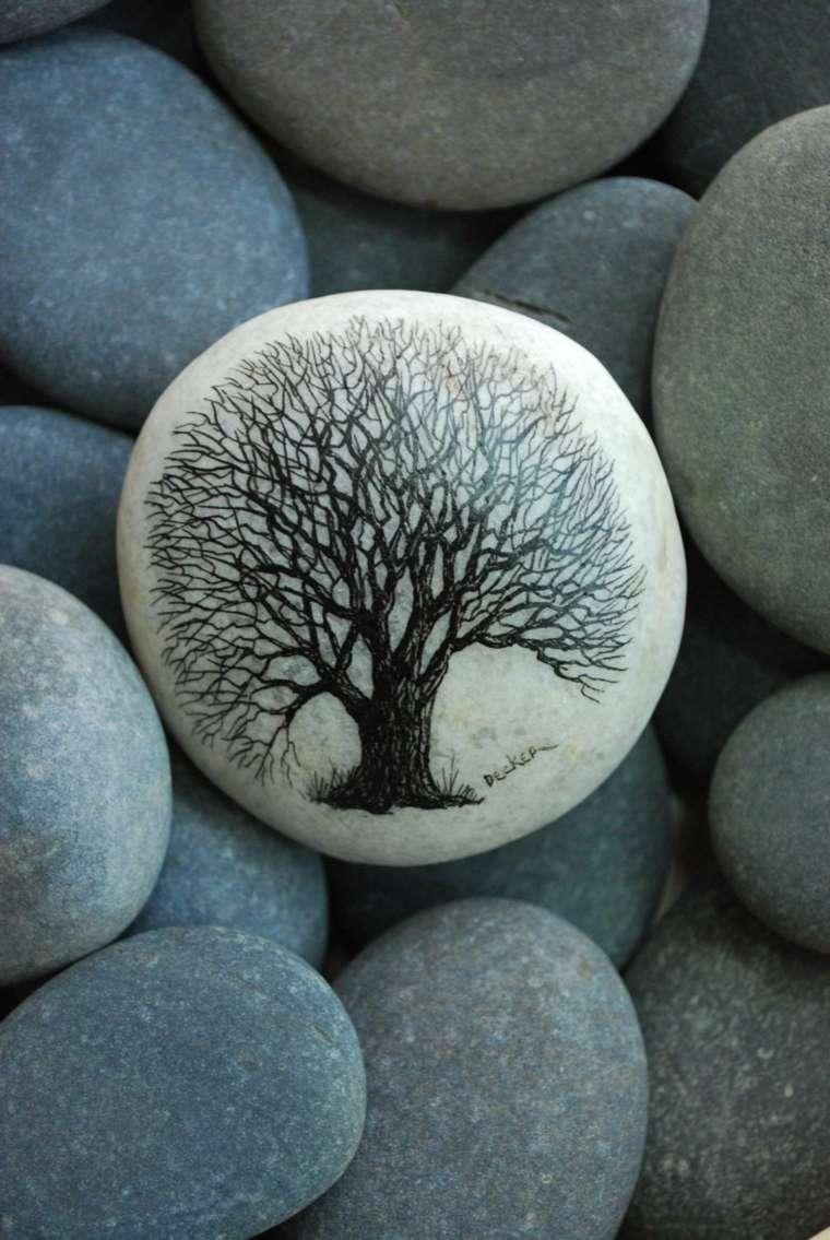 Piedras pintadas para decorar vuestra casa de forma original - Piedras de rio pintadas ...