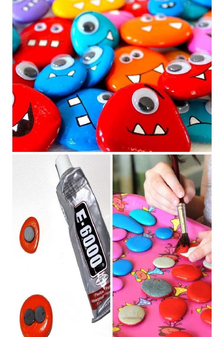 decorar piedras colores