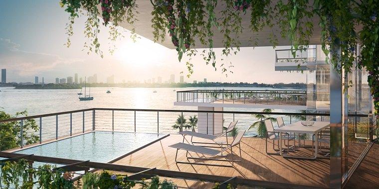 piscina terraza comedor tumbonas ideas