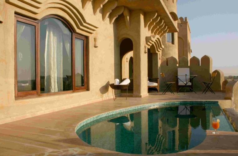 piscinas pequeñas para terrazas modernas diseño