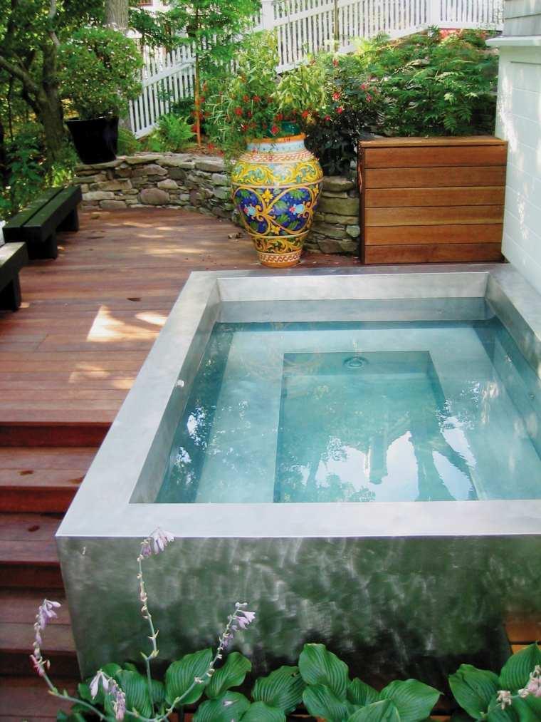 piscinas pequeñas para terrazas patios decorar