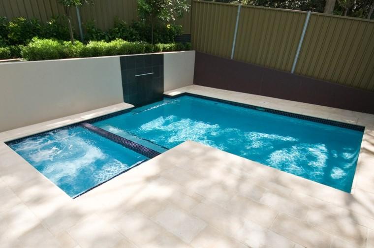 Piscinas peque as para terrazas y patios modernos - Terrazas de piscinas ...