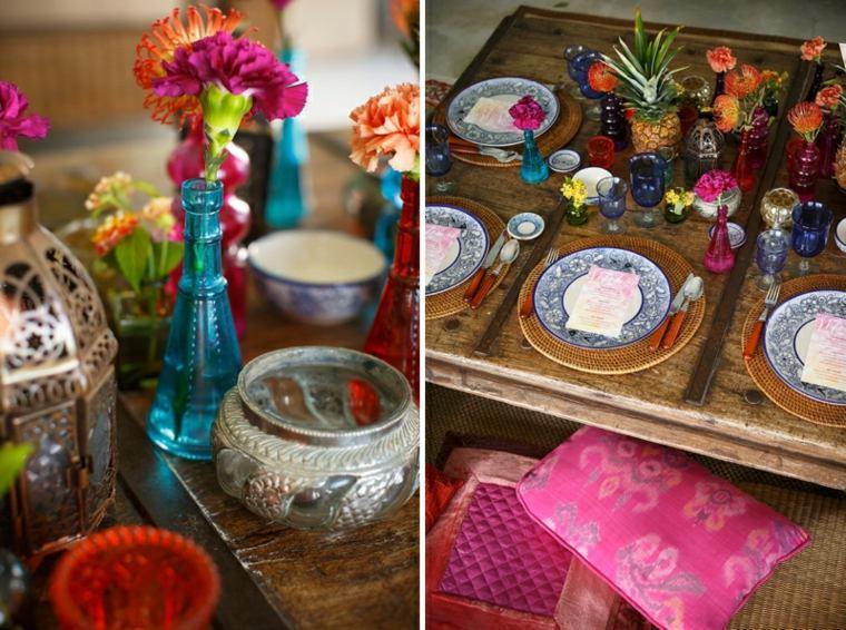 bonita decoración mesa