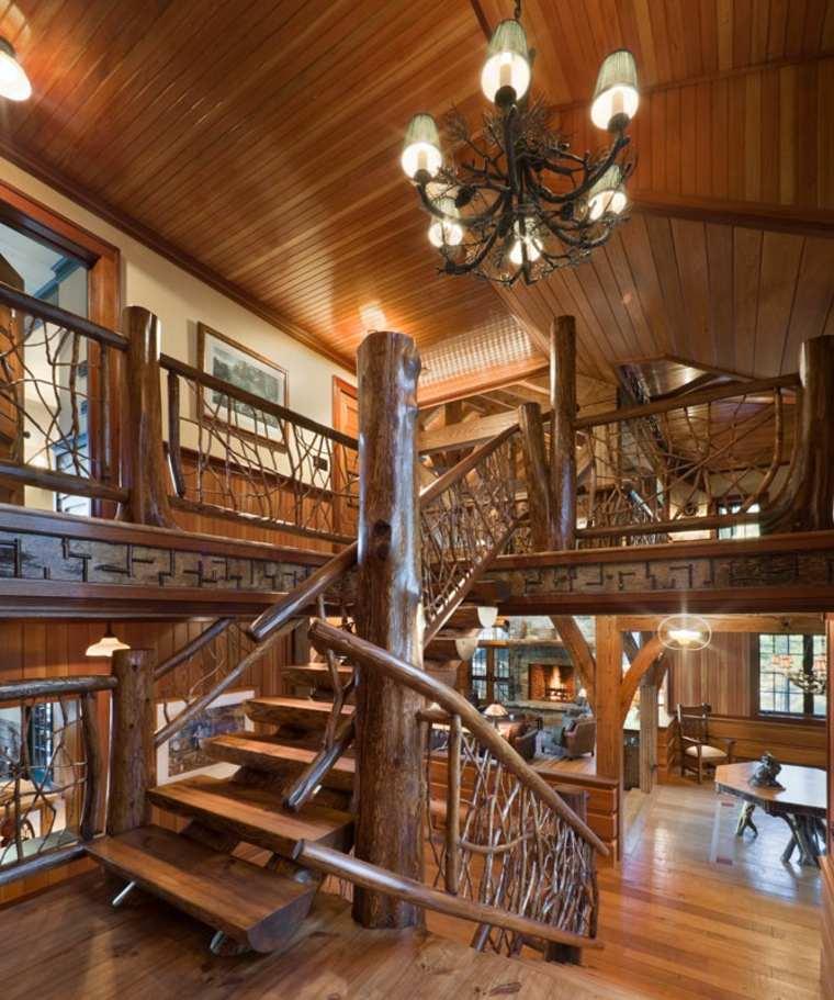 preciosas escaleras interior rústico