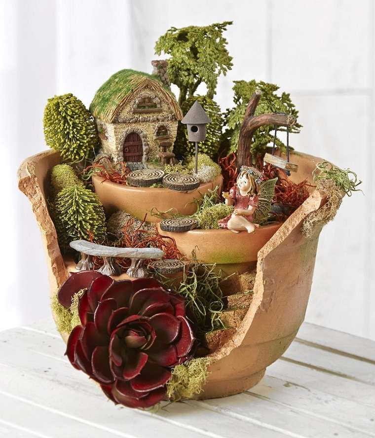 mini jardín maceta