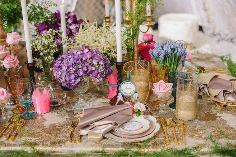 Estilo boho chic para decorar tu boda 34 ideas rom nticas for Decoracion hippie chic