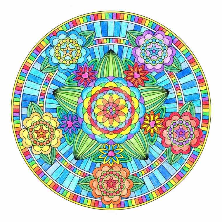 Mandala coloreado