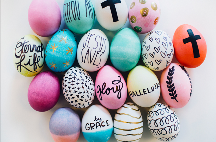 como decorar un huevo de Pascua