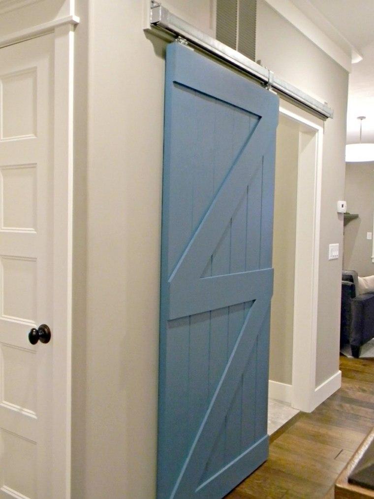 Puertas correderas de madera de estilo granero 42 ideas for Puertas de corredera