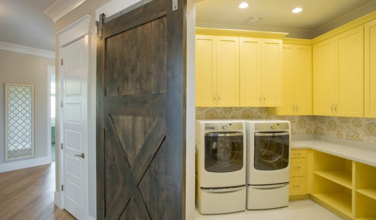 Puertas correderas de madera de estilo granero 42 ideas - Puertas correderas cocina ...