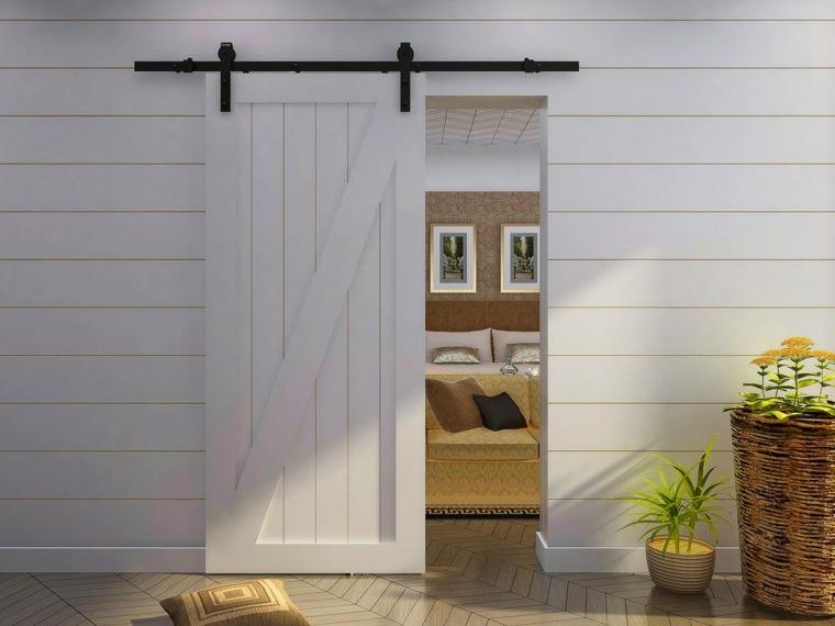 Puertas correderas de madera de estilo granero 42 ideas - Puerta corredera granero ...