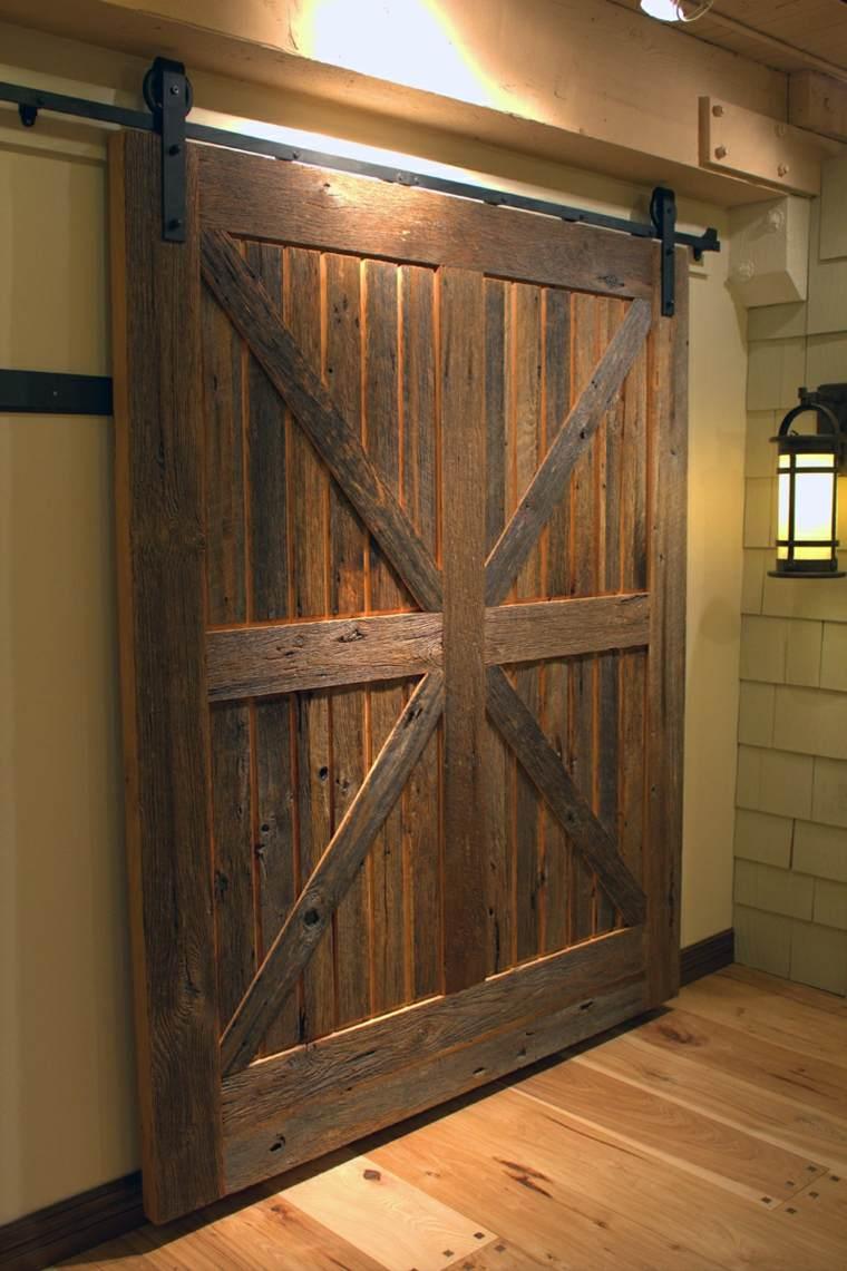 Puertas correderas de madera de estilo granero 42 ideas - Puerta corrediza madera ...