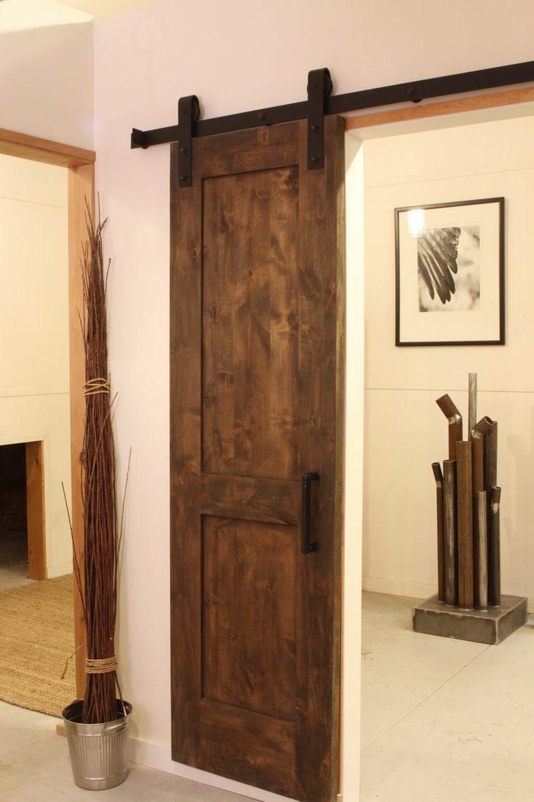puerta corredera estrecha