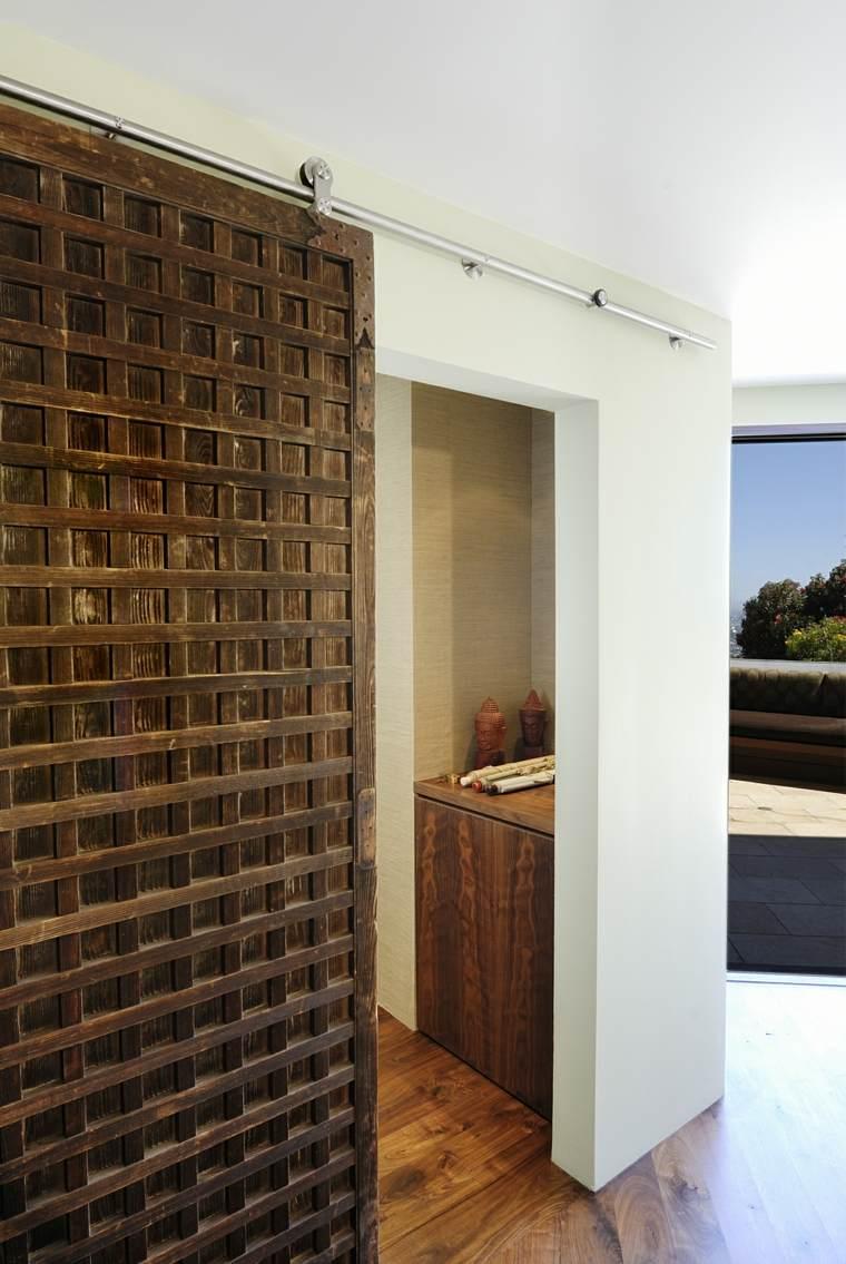Puertas correderas de madera de estilo granero 42 ideas for Diseno puerta