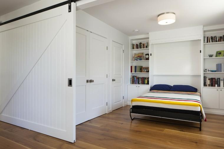 puertas correderas blancas habitacion