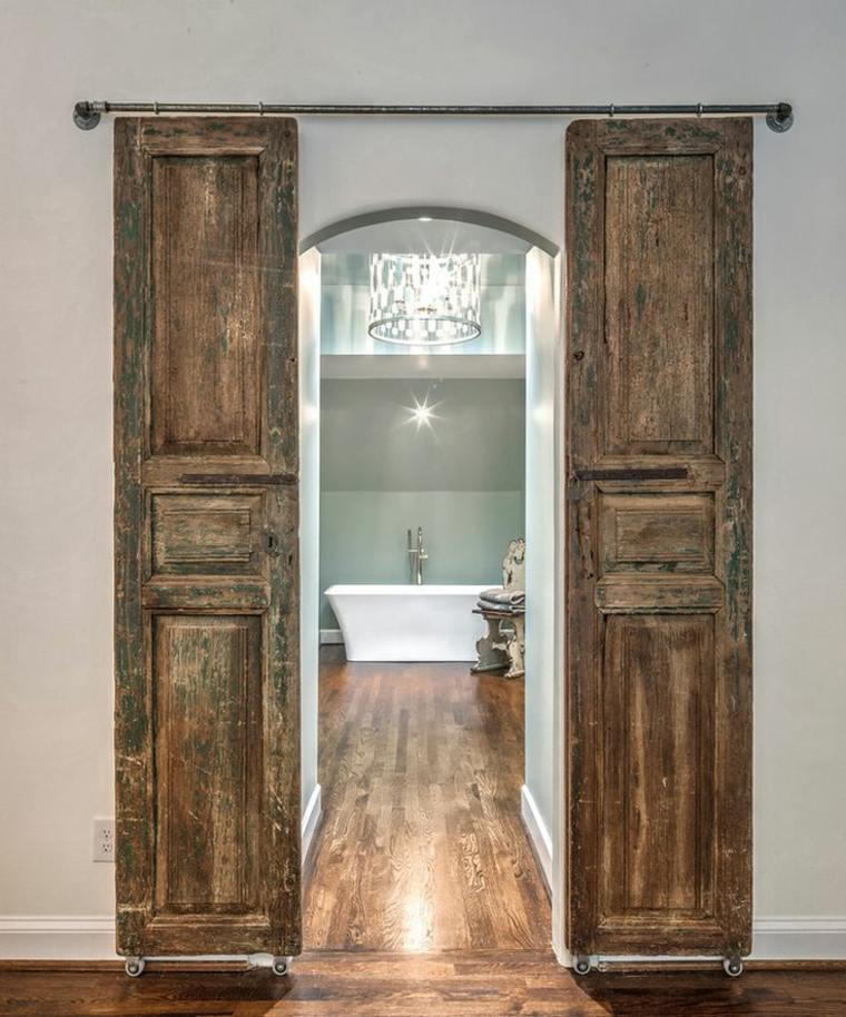 puertas madera rústica
