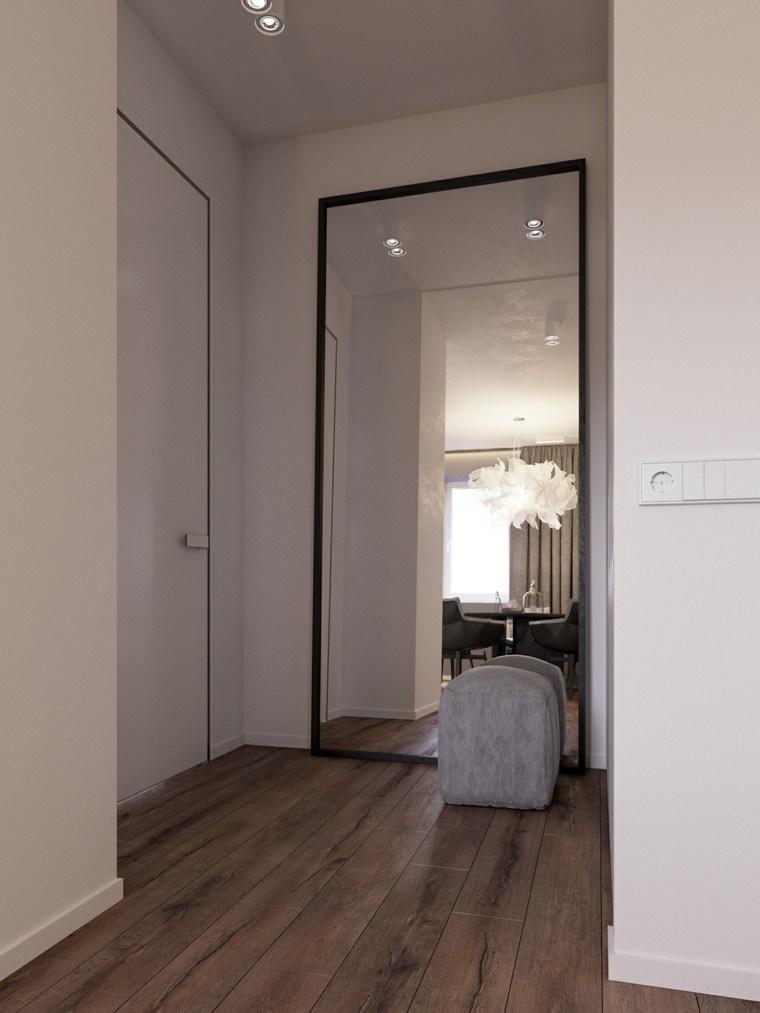 Recibidor peque o moderno y pr ctico ideas y consejos for Espejo grande blanco